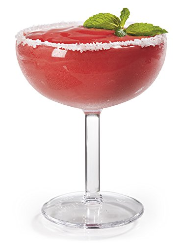 16 oz. Margarita Glasses, Break Resistant, Dishwasher Safe, BPA Free, For Indoor or Outdoor Entertaining, Reusable SAN Plastic (Pack of 4) -  GET -