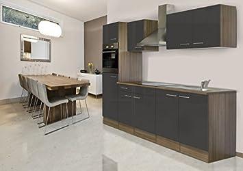Respekta Küchenleerblock Küche Leerblock Küchenzeile 270 Cm Eiche York Grau