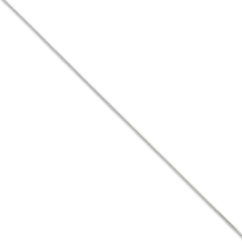 .925 Sterling Silver 1.00MM Round Snake Link Anklet Bracelet, 9 Inches