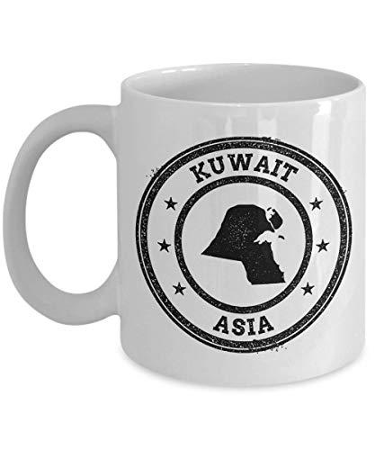 Kuwait stamp passport Asia novelty gift idea holiday for women men wife husband coworker friend birthday coffee mug 11 oz