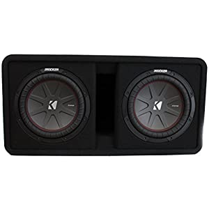 "Kicker 43DCWR102 10"" 2400W Dual Car Subwoofers + Box + 3000W Mono Amp + Amp Kit"