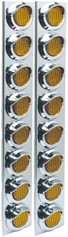 2 Pack RoadPro RPSL28LED Posi-View LED SS Air Cleaner Sealed Light Assembly