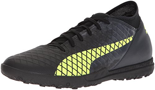 (PUMA Men's Future 18.4 TT Soccer-Shoes, Puma Black-Fizzy Yellow-Asphalt, 9 M)