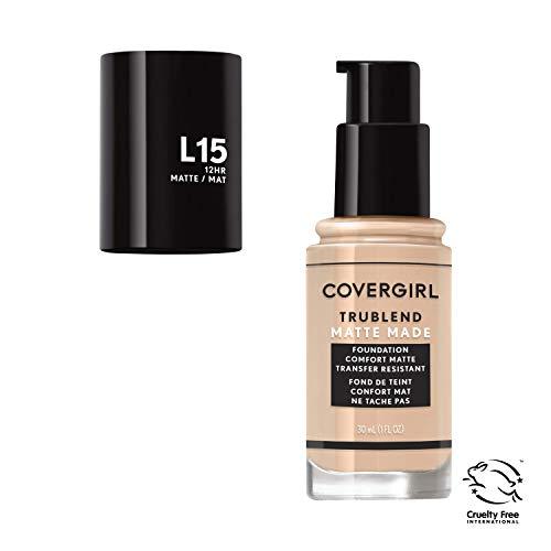 Covergirl Trublend Matte Made Liquid Foundation, L15 Porcelain, 1.014 Ounce ()