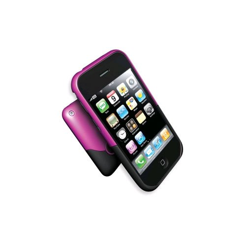 NEW OEM iFrogz Luxe Pink & Black Case iPhone 3G 3GS