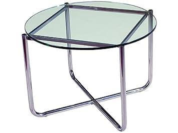 Moderne Runde Und Criss Cross Couchtisch Glasplatte Gestell Metall