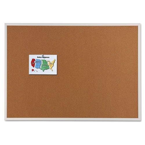 (Quartet Anodized Aluminum Frame Natural Cork Bulletin Board, 48in. x 96in.)