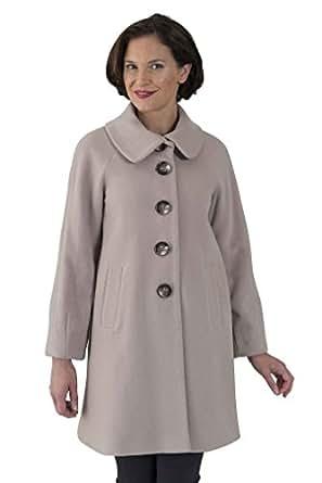 Coat Man 3/4 Single Breasted Raglan Sleeve Swing Coat with Tuck Feature On Sleeves Black 10