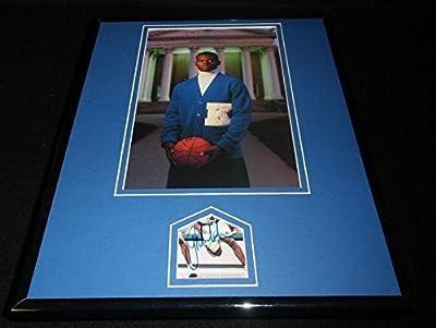 Jamal Mashburn Signed Photograph - Framed 11x14 Poster Display Kentucky - Autographed NBA Photos