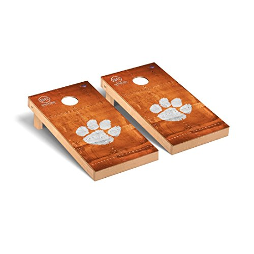 Victory Tailgate Clemson University Tigers Cornhole Game Set OHT Rivet Version Clemson Tigers Tailgate Toss