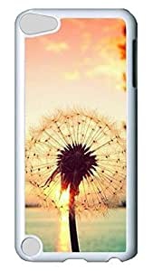 Brian114 Case, iPod Touch 5 Case, iPod Touch 5th Case Cover, Beautiful Dandelion 03 Retro Protective Hard PC Back Case for iPod Touch 5 ( white )