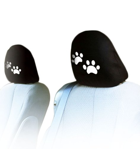 - New Interchangeable Car Seat Headrest Covers Universal Fit for Cars Vans Trucks-Sold by a Pairs (Paws)