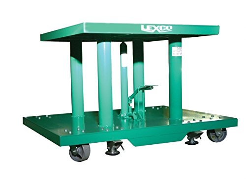Wesco-Industrial-Products-492214-Steel-Foot-Operated-Hydraulic-Lift-Table-2000-lb-Capacity-48-x-30-Tabletop-36-Height