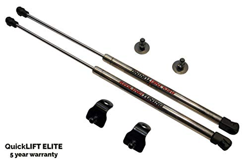 Redline Tuning 21-11024-03 Hood QuickLIFT ELITE Bolt in Struts (Stainless Steel Struts, 5 year warranty) Compatible for Ford Mustang 2005-2014 All STOCK ()