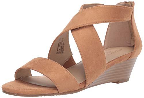 (Aerosoles Women's Apprentice Wedge Sandal, Tan Fabric, 7 M US)