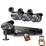 XVIM 8 Channel 720P Security Camera System Video DVR Recorder with 4X HD 720P Indoor Outdoor Weatherproof CCTV Cameras 1TB Hard Drive,Motion Alert, Easy Remote Access on Phone
