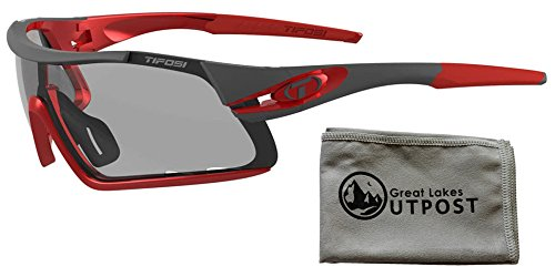 Tifosi Davos Race Red Sunglasses with Cloth ()