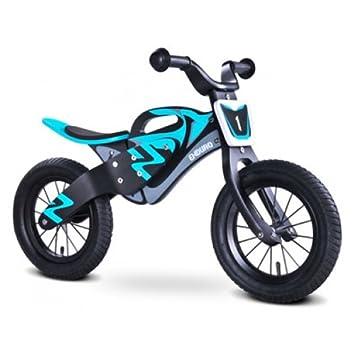 Enduro Kids Children Wooden Balance Bike Black Blue Amazon Co