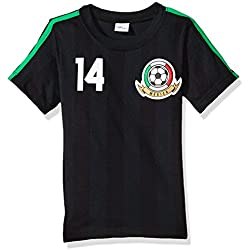 BC Collection Playera Mexico Jersey H3266, Color Negro, (3-6) Meses