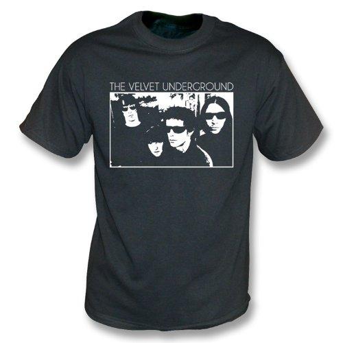 TshirtGrill Velvet Underground-Band-Foto-Weinlese-Wäsche-T-Shirt, Farbe- Weinlese-Schwarzes