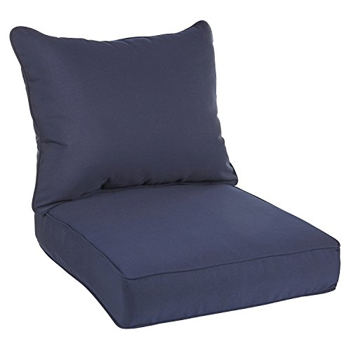 (Mozaic AZPC0307 Sunbrella Indoor/Outdoor Deep Seating Corded Pillow and Cushion Set, 23