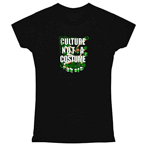 Culture Not A Costume St Patrick's Day Black S Womens Tee ()