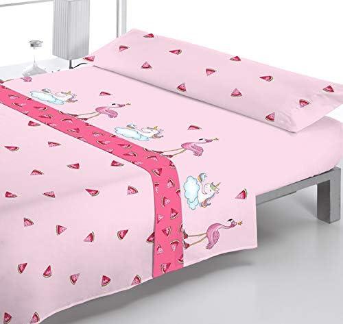 Reig Martí Juego DE SÁBANAS Estampado 3/Piezas Modelo: Pink, Color ...