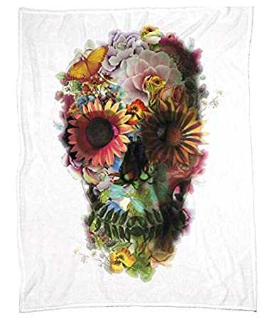 Amazon.com: Skull Ii Home Decor Manta suave cálida manta ...