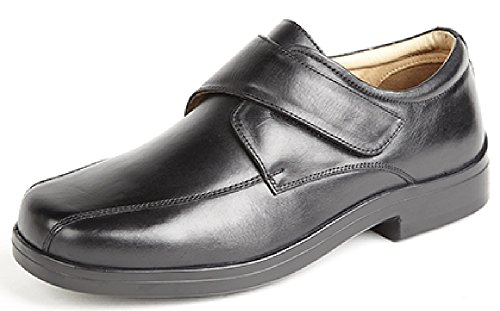 ROAMERS XXX Extra Wide Touch Fastening Tramline Casual Leather Quarter Lining & Sock Mens k7NOORbeC