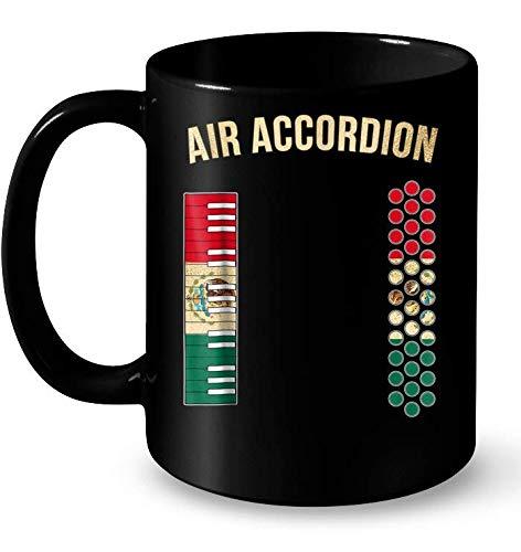 Air Accordion Mexican Flag Muqs 11OZ Coffee Mug