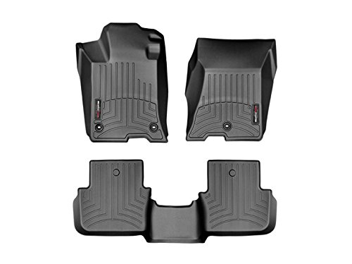2015-2016 Acura TLX-Weathertech Floor Liners-Full Set (Includes 1st and 2nd Row)-AWD Only-Black by WeatherTech (Image #2)