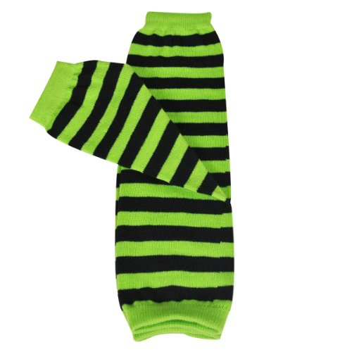 - Wrapables Stars, Stripes, and Solids Colorful Baby Leg Warmers Green/Black, One Size