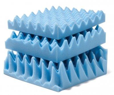 Convoluted Foam Mattress Pads Size: King, Thickness: 4''