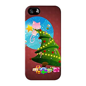 Árbol de Navidad full Wrap alta calidad 3d impresa Caso, snap-on para iPhone 5/5S por DevilleART