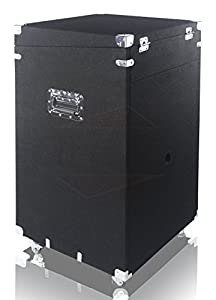 Ultimate Rackmount Studio Mixer Cabinet Road Case By Griffin - 25U Space-Saving Pro-Audio Stand Equipment Travel Flight Case For PA DJ Music Gear, Carpeted Interior Cart, Security & Convenience by Griffin