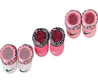 Nike - Calcetines - para bebé niña Rosa blanco 0-6 Meses ...