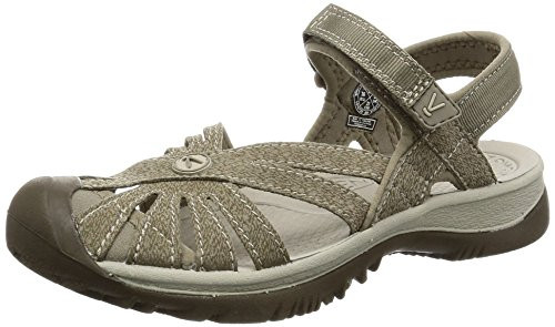 KEEN Women's Rose Sandal, Brindle/Shitake, 9.5 M US