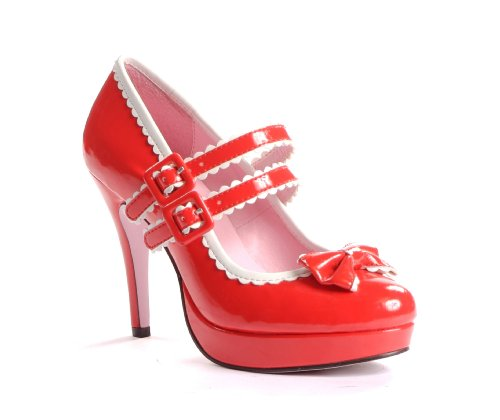 High Heel Pumps von Leg Avenue LA420 Dottie - rot/weiss - 38