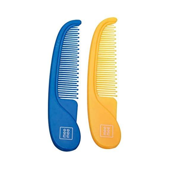 Mee Mee Comb and Brush Set (Easy Grip, Blue Orange)