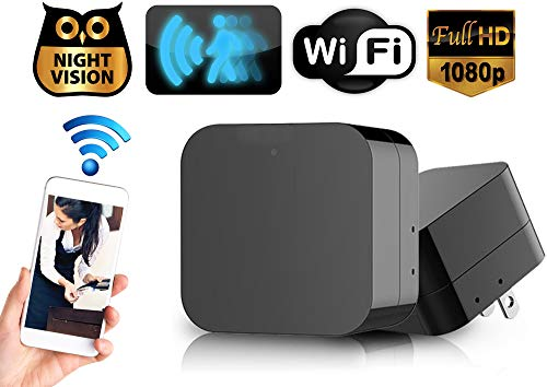 Hidden Spy Camera Wall Charger Night Vision - Nanny Camera USB Security Camera Supports 128GB SD Memory Card - Superior Motion Detection, 1080P HD Resolution, 9712 Lens & Wi-Fi Remote Viewing No Audio
