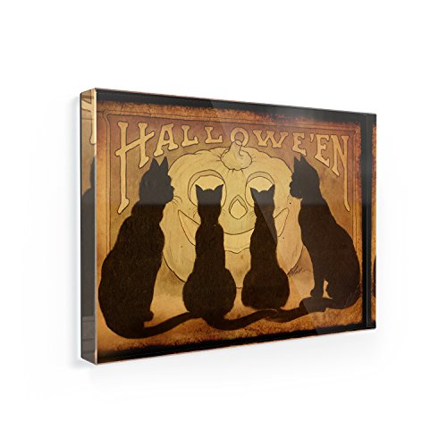 (Fridge Magnet Halloween cats, black cats -)