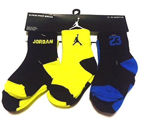 Nike Air Jordan Baby Socks Black, Neon, Blue, 6 PAIRS, for sale  Delivered anywhere in USA