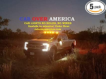 Cab Roof Marker Lights Wireless Solar Charged No Tools Or Holes Necessary