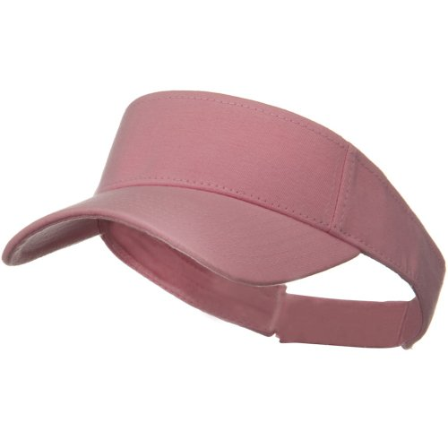 Comfy Cotton Jersey Knit Sun Visor - Pink by Otto Caps