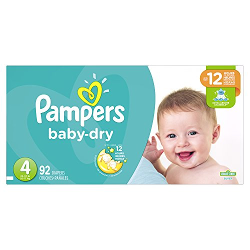 Pampers Baby Dry Diapers Size 4, 92 Count