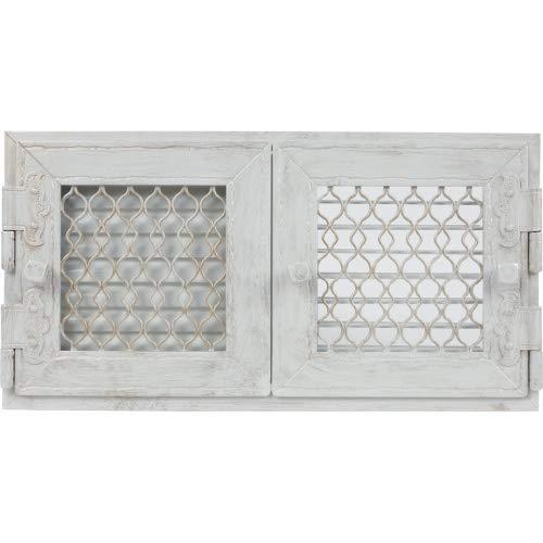 Rejilla de aire caliente retro blanco Horno 23,8 x 46 cm Con 2 ...