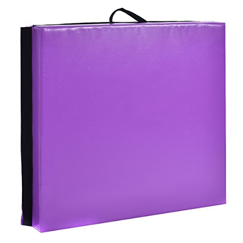 New 6'x38''X4'' Gymnastics Mat Thick Two Folding Panel Fitness Exercise Purple by MTN Gearsmith (Image #1)