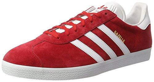 Scarlet Unisex Deporte Adulto Zapatillas Gazelle de Footwear adidas Metall Gold Originals Rojo White I6q8YxnXw