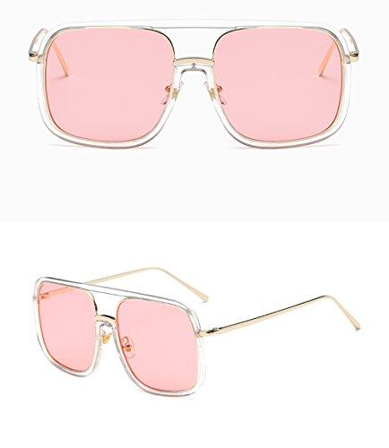 A de Color de moda gafas mujer X Gafas de personalidad sol de QQB A de sol Gafas redondas nxSYT7Zq1
