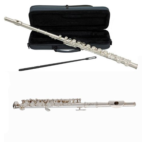 Woodwind Players Duet - Silver Plated Closed Hole C Flute & Silver Plated Piccolo by Band Directors Choice